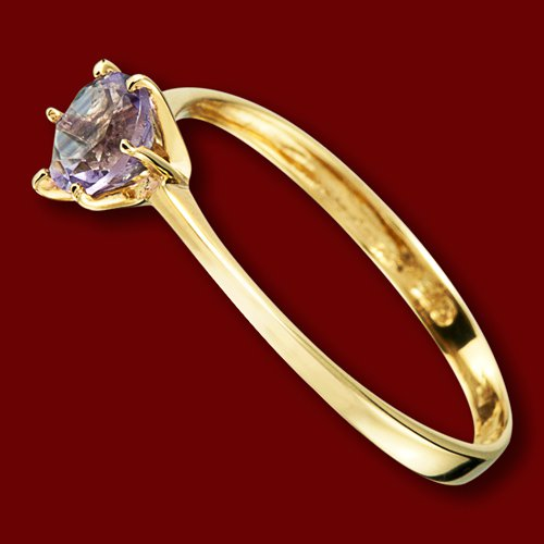 R3288 Prsten Zlaty Ametyst Zasnubni Velikost 55 Nejlevnejsi Na