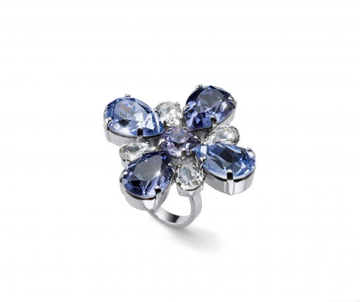 5cb8ee798 41143 VIO Prsten s krystaly Swarovski Oliver Weber Jazzy violet one ...